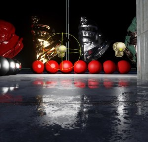 Sphere light source, ray tracing